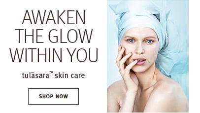 Click shop now button to shop tulasara skin care